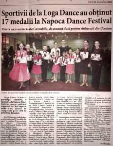 Sportivii de la Loga Dance au obținut 17 medalii la Napoca Dance Festival (Informatia Zilei)