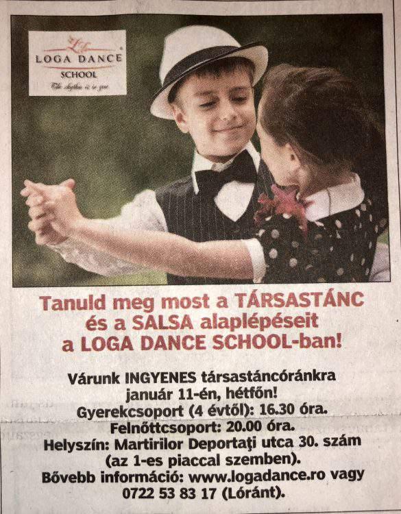 Tanuld meg most a Tarsastanc es a Salsa alaplepeseit a Loga Dance School-ban! (Friss Ujsag)