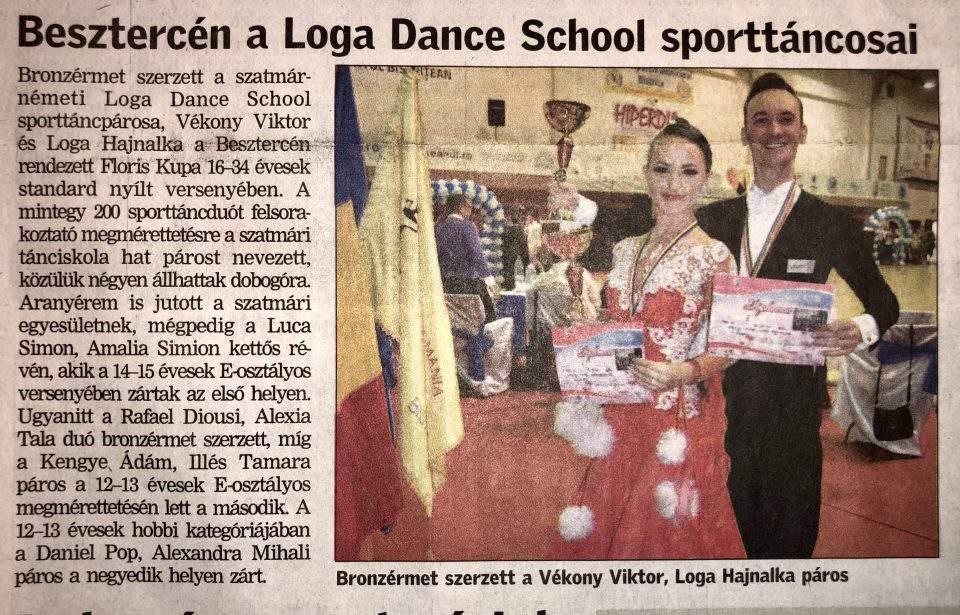 Besztercen a Loga Dance School sporttancosai (Friss Ujsag)