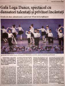 Gala Loga Dance School, spectacol cu dansatori talentati si privitori incantati (Informatia Zilei)