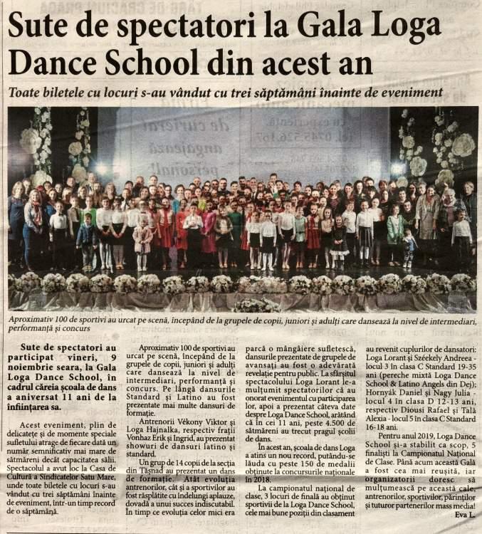 Sute de spectatori la Gala Loga Dance School din acest an (Informatia Zilei)