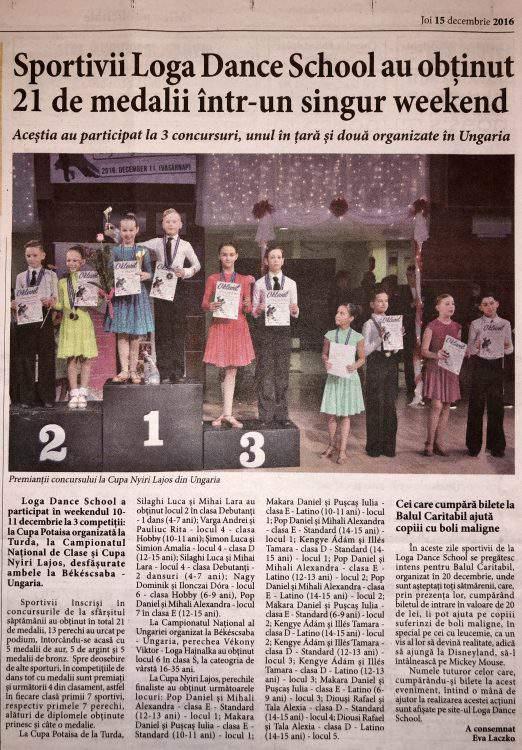 Sportivii Loga Dance School au obtinut 21 de medalii intr-un singur weekend (Informatia Zilei)