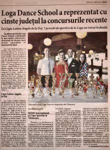 Loga Dance School a reprezentat cu cinste judetul la concursurile recente (Informatia Zilei)