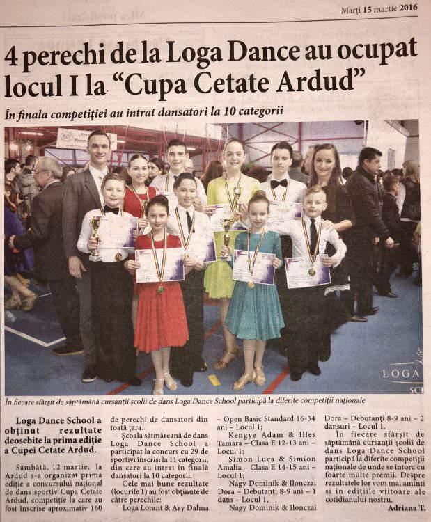 """4 perechi de la Loga Dance School au ocupat locul I la """"Cupa Cetate Ardud"""" (Informatia Zilei)"""