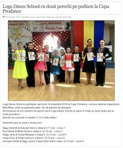 Loga Dance School cu doua perechi pe podium la Cupa Prodance (gazetanord-vest.ro)