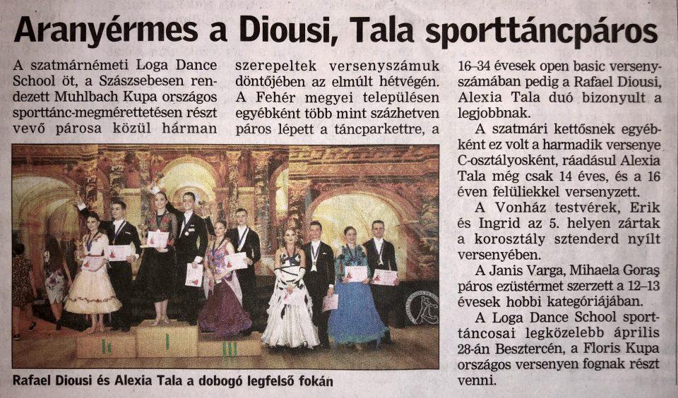 Aranyermes a Diousi, Tala sporttancparos (Friss Ujsag)