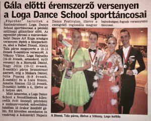 Gala elotii eremszerzo versenyen a Loga Dance School sporttancosai (Friss Ujsag)
