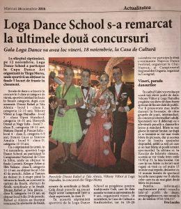 Loga Dance School s-a remarcat la ultimele doua concursuri(Informatia Zilei)