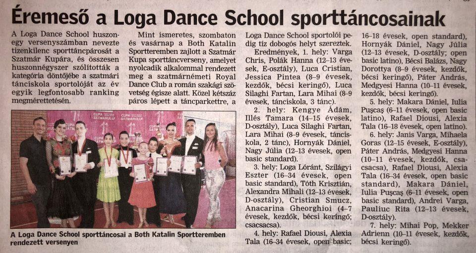 Eremeso a Loga Dance School sporttancosainak (Friss Ujsag)