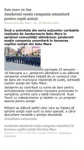 Jandarmii sustin campania umanitara pentru copiii autisti (satumareonline.ro)