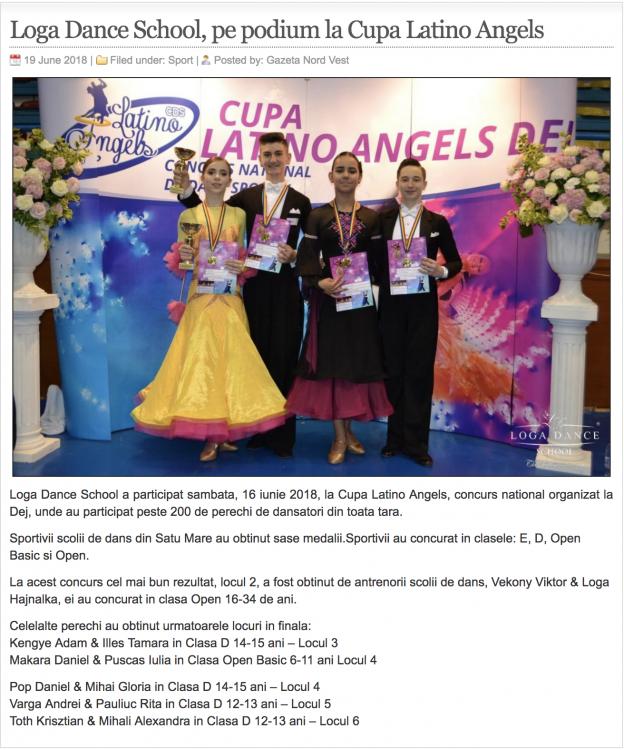 Loga Dance School, pe podium la Cupa Latino Angels (gazetanord-vest.ro)