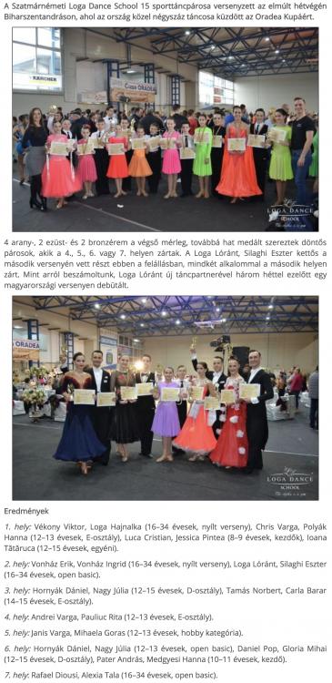 Tizennegy eremmel tertek haza a Loga Dance School sportoloi(frissujsag.ro)