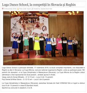 Loga Dance School, la competitii in Slovacia si Reghin (gazetanord-vest.ro)