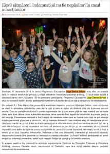 Elevii satmareni, indemnati sa nu fie nepasatori in cazul infractiunilor (gazetanord-vest.ro)