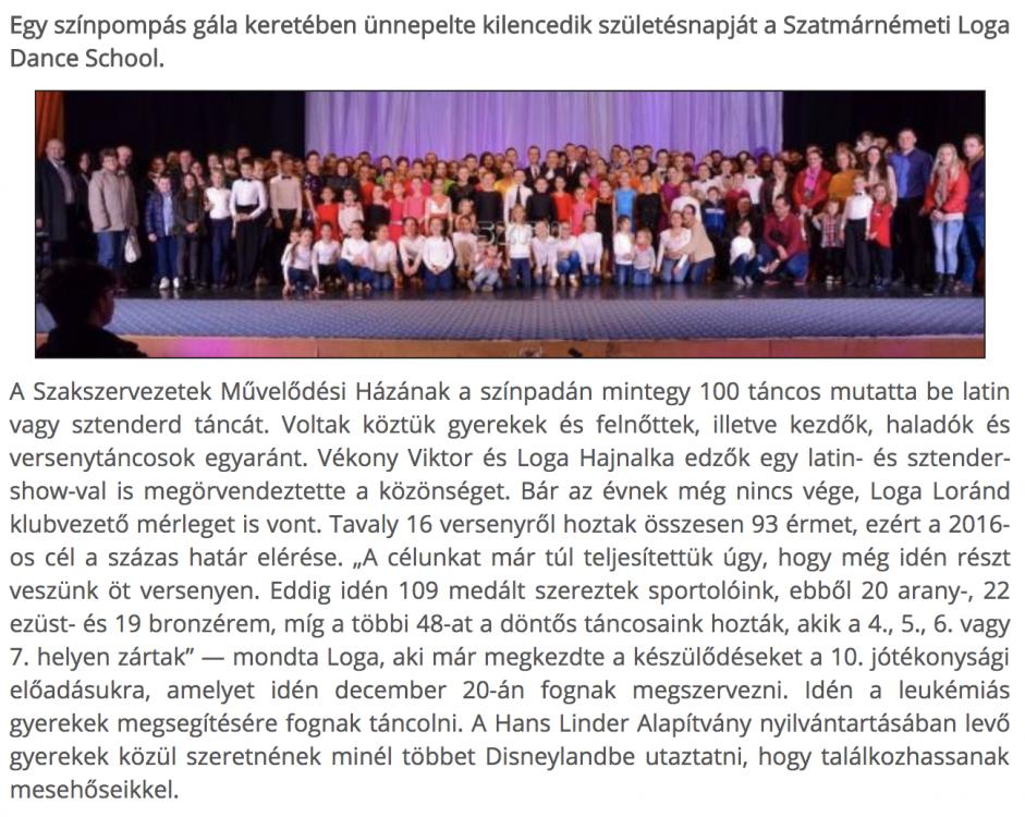Gala es merlegvonas a Loga Dance Schoolnal(frissujsag.ro)