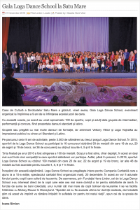 Gala Loga Dance School la Satu Mare (gazetanord-vest.ro)