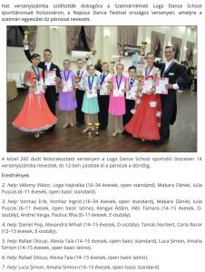 Kolozsvaron tancoltak a Loga Dance School sportoloi (frissujsag.ro)