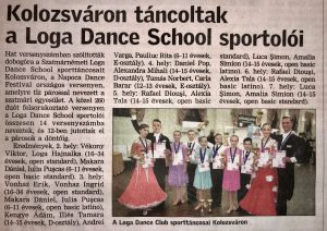 Kolozsvaron tancoltak a Loga Dance School sportoloi (Friss Ujsag)