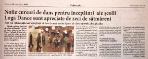 Noile cursuri de dans pentru incepatori (Informatia Zilei)