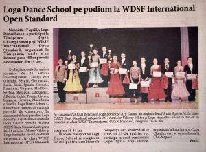 Loga Dance School pe podium la WDSF International Open Standard (Informatia Zilei)