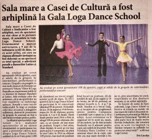 Sala mare a Casei de Cultura a fost arhiplina la Gala Loga Dance School (Informatia Zilei)