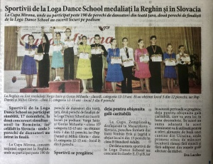 Sportivii de la Loga Dance School medaliatti la Reghin si in Slovacia (Informatia Zilei)