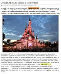 Copiii de nota 10 pleaca la Disneyland (gazetanord-vest.ro)