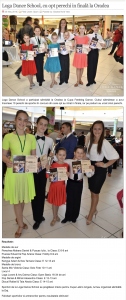 Loga Dance School, cu opt perechi in finala la Oradea (gazetanord-vest.ro)