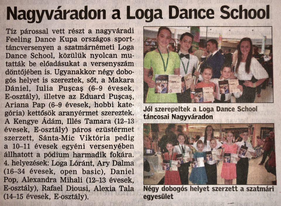 Nagyvaradon a Loga Dance School(Friss Ujsag)