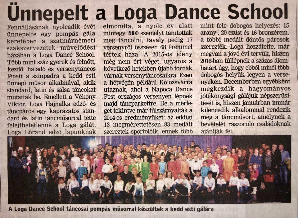 Unnepelt a Loga Dance School (Friss Ujsag)