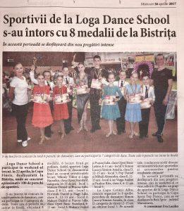 Sportivii de la Loga Dance School s-au intors cu 8 medalii de la Bistrita (Informatia Zilei)