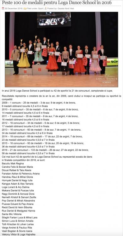 Peste 100 de medalii pentru Loga Dance School (gazetanord-vest.ro)