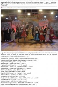 """Sportivii de la Loga Dance School au dominat Cupa """"Cetate Ardud"""" (gazetanord-vest.ro)"""