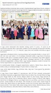 Bajnoki resztvevo a Loga Dance School legjobbjai kozott(frissujsag.ro)