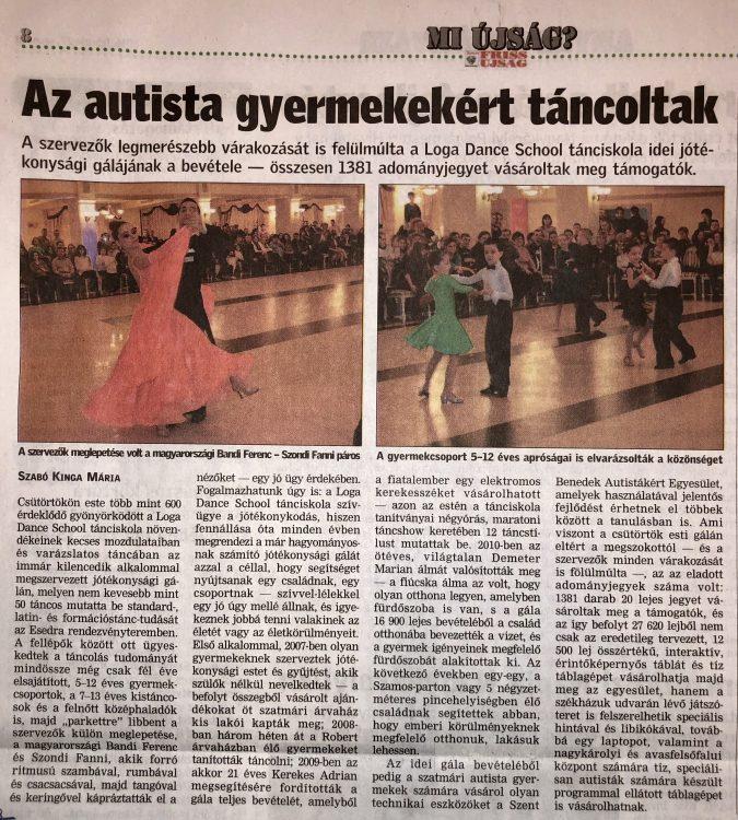 Az autista gyermekekert tancoltak (Friss Ujsag)