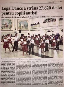 Loga Dance School a strans 27.620 de lei pentru copiii autisti (Informatia Zilei)