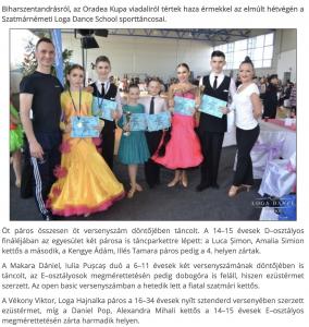 Dobogon a Loga Dance School sporttancosai(frissujsag.ro)