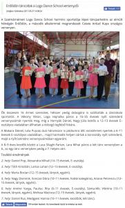 Erdodon tancoltak a Loga Dance School versenyzoi (frissujsag.ro)