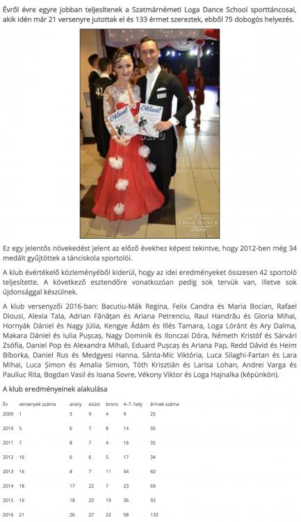 Egyre javulnak a Loga Dance School eredmenyei(frissujsag.ro)