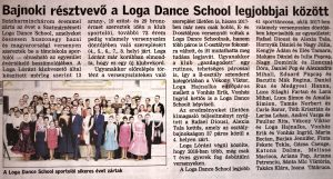 Bajnoki resztvevo a Loga Dance School legjobbjai kozott (Friss Ujsag)