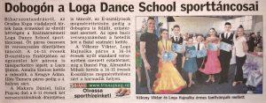 Dobogon a Loga Dance School sporttancosai (Friss Ujsag)
