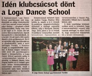Iden klubcsucsot dont a Loga Dance School (Friss Ujsag)