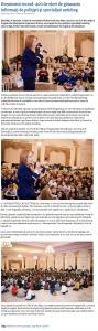 Eveniment record: 400 de elevi de gimnaziu informati de politisti si specialisti antidrog (satumareonline.ro)