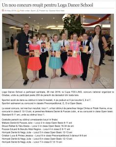 Un nou concurs reușit pentru Loga Dance School (gazetanord-vest.ro)