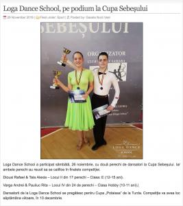 Loga Dance School, pe podium la Cupa Sebesului (gazetanord-vest.ro)