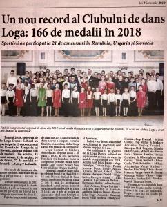 Un nou record al Clubului de dans Loga Dance School - 166 de medalii  (Informatia Zilei)