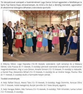 Felsobanyan tancoltak a Loga Dance School sportoloi (frissujsag.ro)