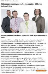 Ketnapos programsorozat a reformacio 500 eves evfordulojan (szatmar.ro)