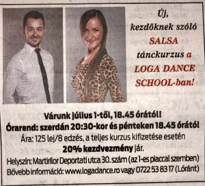 Uj, kezdoknek szolo Salsa tanckurzus a Loga Dance School-ban! (Friss Ujsag)