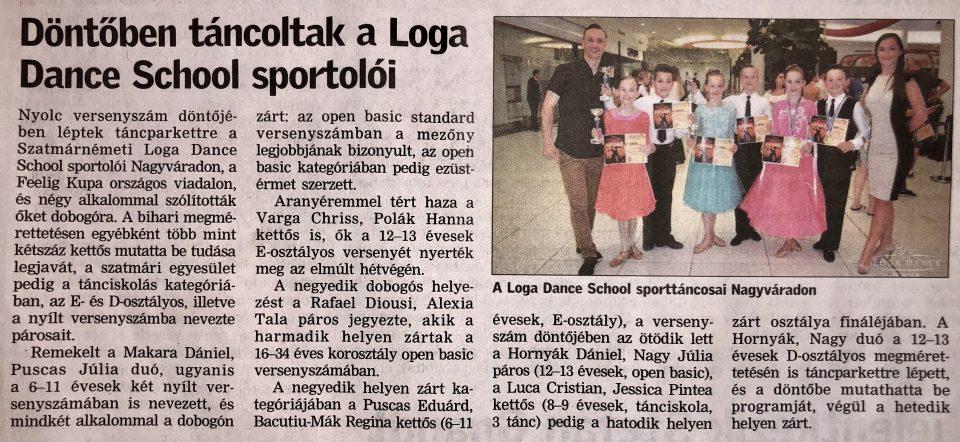 Dontoben tancoltak a Loga Dance School sportoloi(Friss Ujsag)